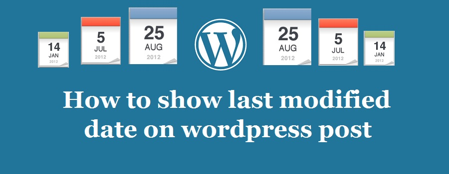 How to set Last modified WordPress post date