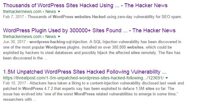 wordpress site hacked