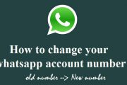 How to change whatsapp number -chat with new number