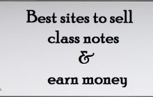 Best sites to earn money by sell class notes online