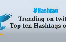 Top ten trending hashtags on twitter