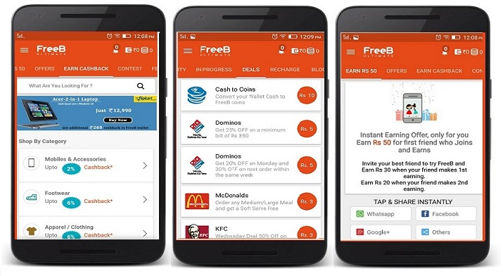 Freeb - free recharge earning app