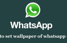 How to set whatsapp chat wallpaper