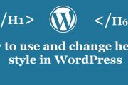 How to Customize Your WordPress custom heading style