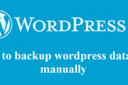 How to take wordpress database backup manually?