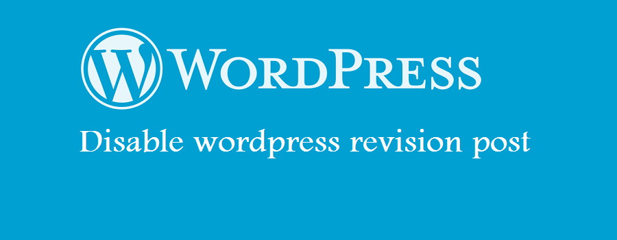 wordpress disable post revision