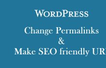 1 click to change WordPress permalinks & make SEO friendly URL