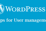 Step by step guide for WordPress user management guide [Screen shot]