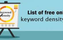 List of free online keyword density tool