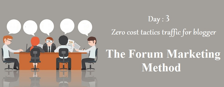 zero cost tactics to increase blog traffic-The Forum Marketing Method