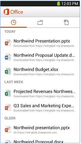 Microsoft office - Must have android apps