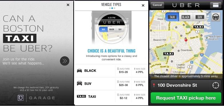 Uber - Taxi app