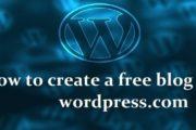 How to create a free blog on wordpress.com