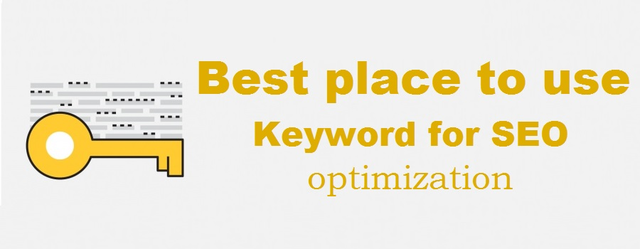 8 strategic places for  keywords to optimize your blog post