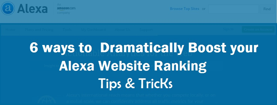 6 ways to  Dramatically Boost your Alexa Website Ranking- Tips & Tricks