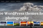 10 most popular & free WordPress themes for photography