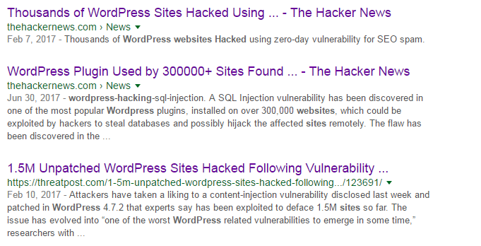 secure WordPress site from hackers