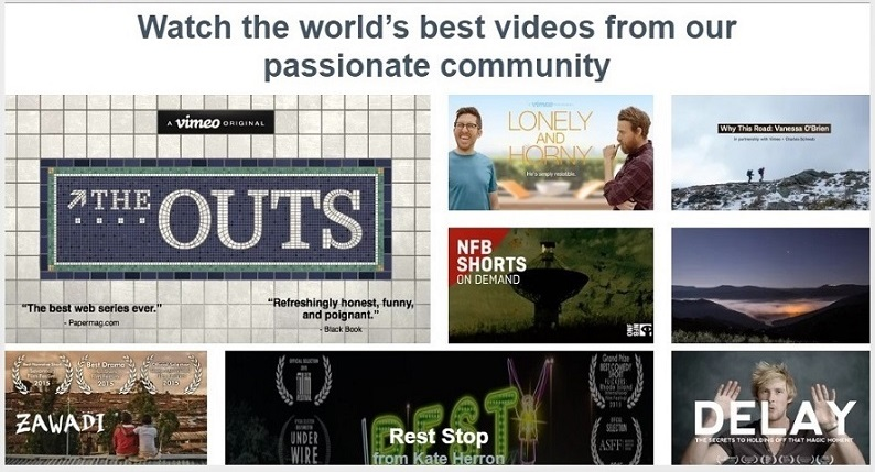 vimeo - A great video sharing site