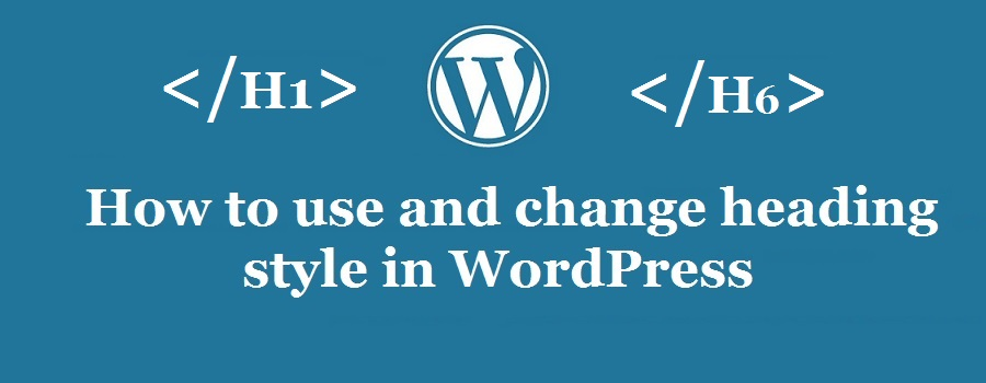 wordpress article heading