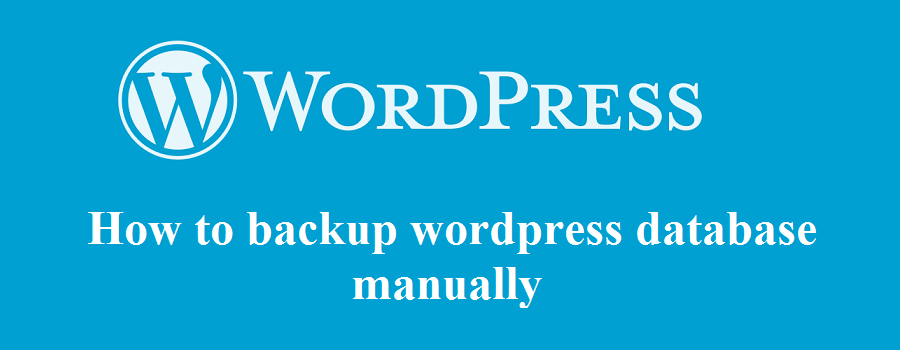 wordpress database backup manually