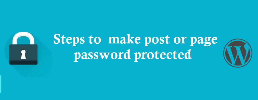 WordPress password protect page