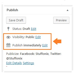 WordPress password protect page visibility option