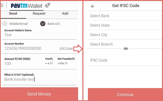 Paytm-bank-account-detail