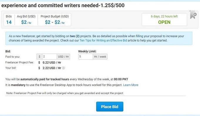 freelancer-bidding
