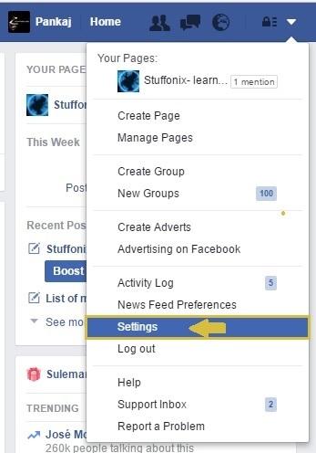 facebook-setting-option