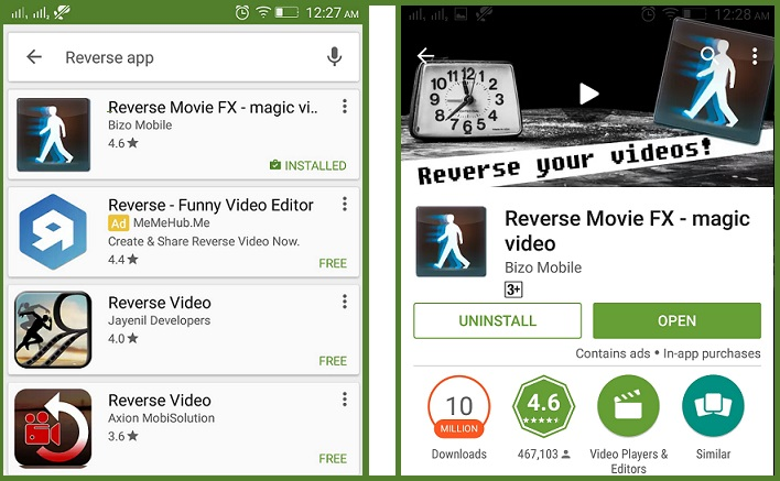 reverse video app download