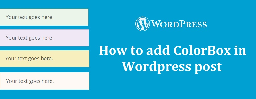how to create content box in wordpress