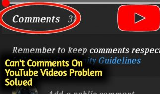 Can't Comment On Youtube