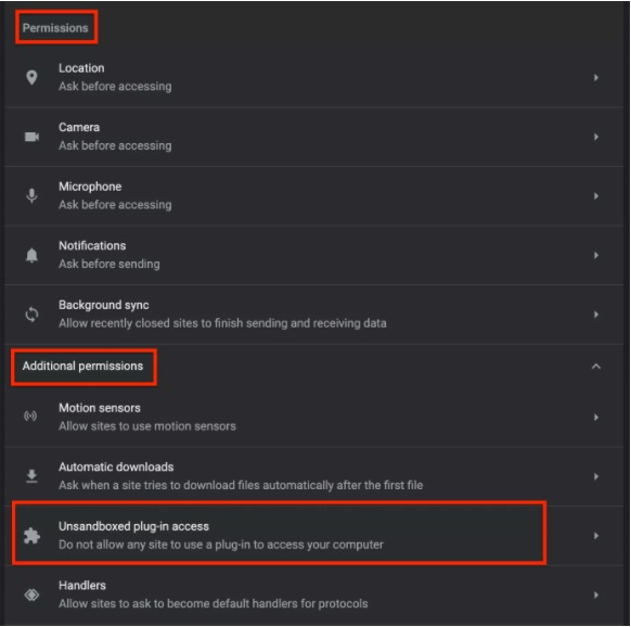 Google Chrome Helper Additional Permissions