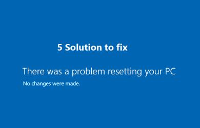 Problem Resetting PC