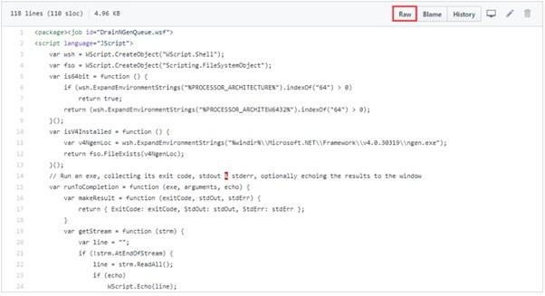 Windows Microsoft.NET Framework Raw button