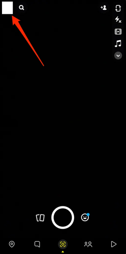 snapchat dark mode display